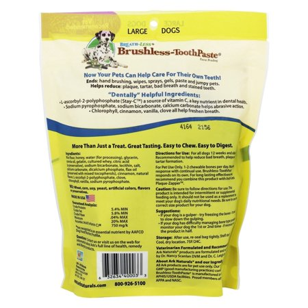 Ark Naturals Breathless Brushless Toothpaste for Large Dog - 18oz
