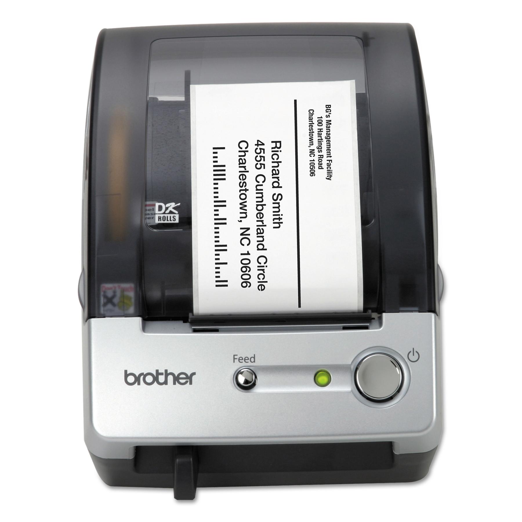 "Brother QL-500 Affordable Label Printer, 50 Labels/Min, 5-7/10""w x 6""d x 7-4/5""h"