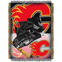 """NHL 48"""" x 60"""" Home Ice Advantage Series Tapestry Throw, Flames"""