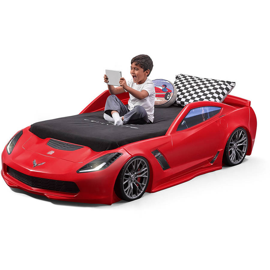 Step2 Corvette Z06 Toddler To Twin Bed, Red