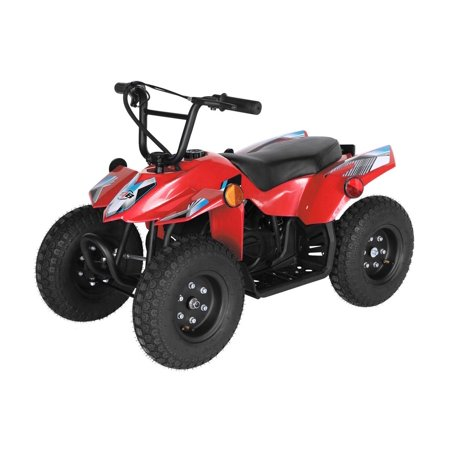 T4B SPARK Mini ATV 250W Brushless Electric KIDS Dirt Quad, 24V13.7Ah, All Terrain, Recreational Outdoors, Off-Road, 3-6 y.o. - Red - image 4 de 11