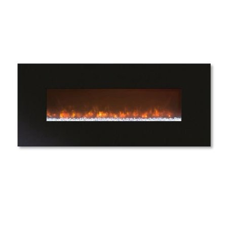 "Modern Flames 100"" CLx2 Electric Fireplace with Matte Black Metal Front"