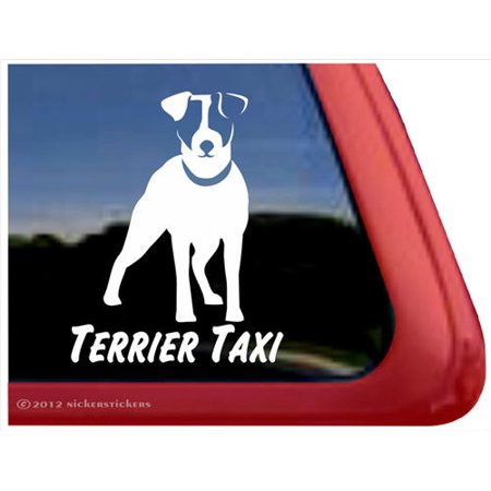 Terrier Taxi | High Quality Vinyl Jack Russell Terrier Dog Window - Rydell High