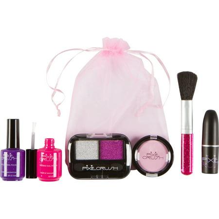 PixieCrush Pretend Play Makeup Kit. Designer Girls Petite Bag Set](Girl Ninja Makeup)
