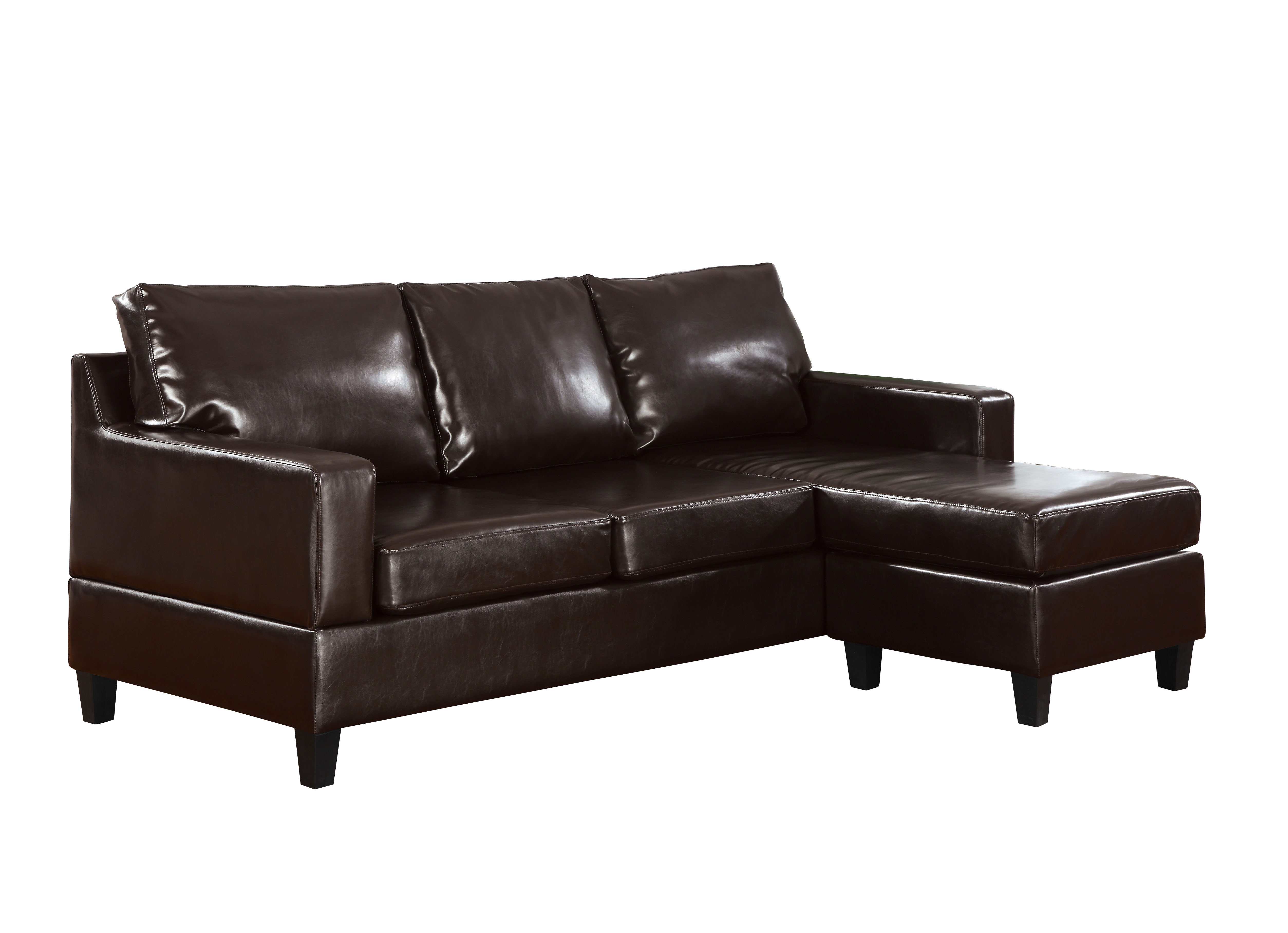 ACME Vogue II Reversible Sectional Sofa in Espresso Bonded Leather by Acme Furniture