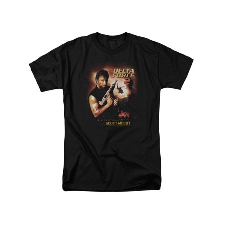 Delta Force 2 MGM Chuck Norris Film Colonel Scott McCoy Adult T-Shirt Tee