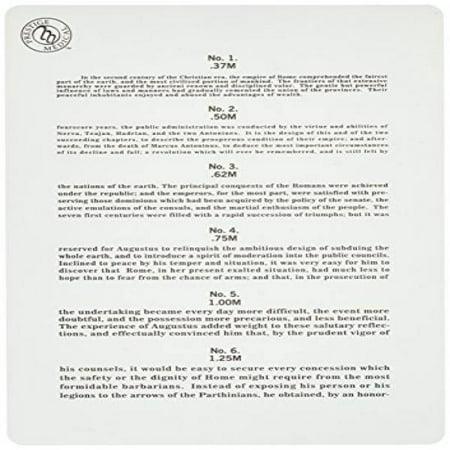 Prestige Medical Jaeger Eye Chart, 0.60 Ounce (Medical Chart Cabinet)