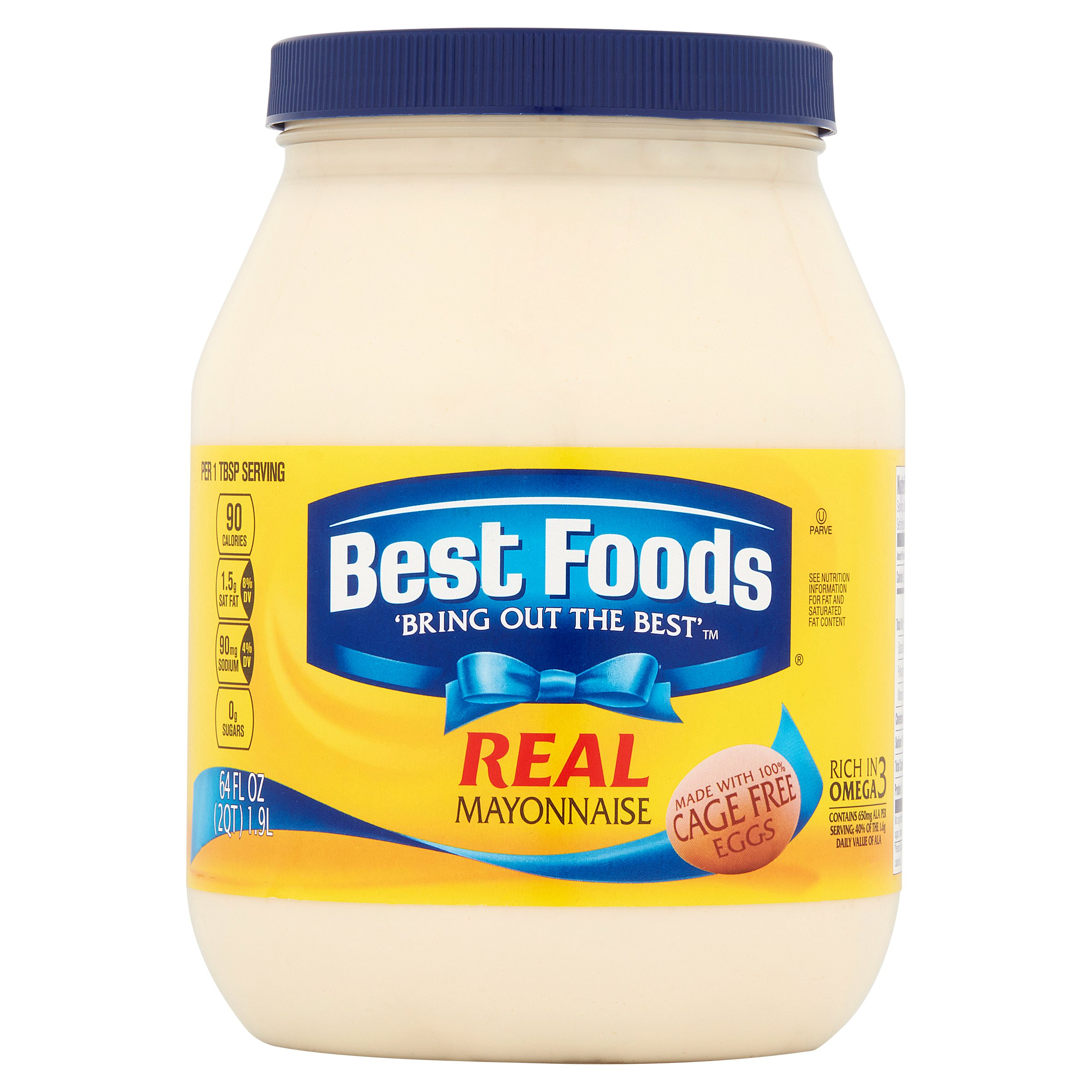Best Foods 'Bring Out the Best' Real Mayonnaise, 64 fl oz