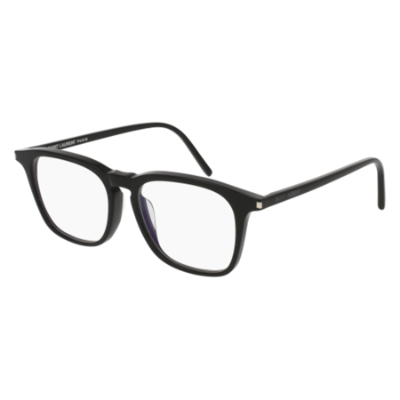 yves saint laurent sl147f 001 51mm black transparent eyeglasses