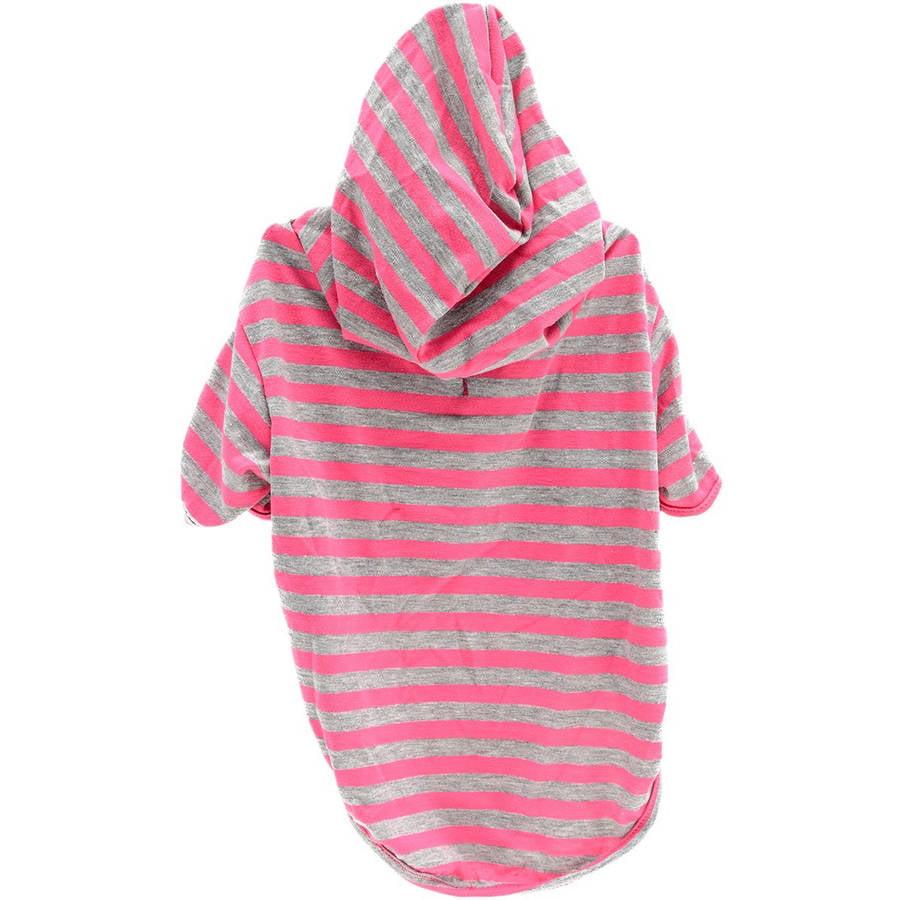 Stellar Pet Boutique Magenta Striped Hoodie