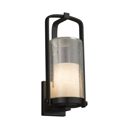 Justice Designs Clouds Atlantic Large Outdoor Wall Sconce - Matte Black - CLD-7584W-10-MBLK