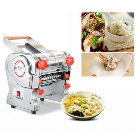110V 750W Electric Pasta Press Maker Noodle Machine Dumpling Skin Home Commercial ()