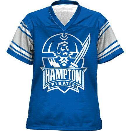 ProSphere Girls' Hampton University End Zone Football Fan Jersey - Football Jersey Girl