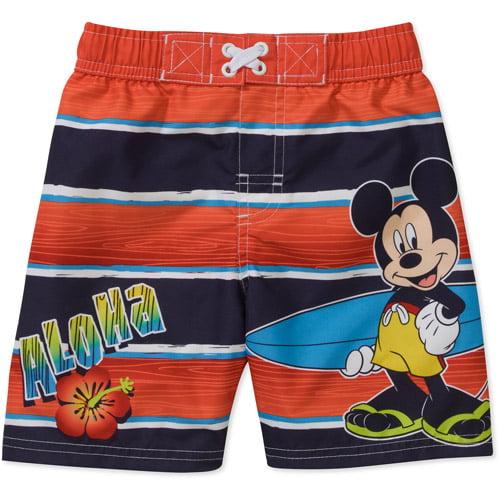 Disney Baby Boys' Mickey Aloha Swim Trunks