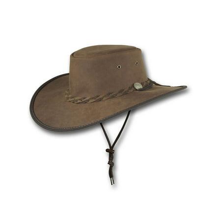 Barmah Hats Wide Brim Foldaway Gaucho Leather Hat - Item 2087 - Spanish Gaucho Hat