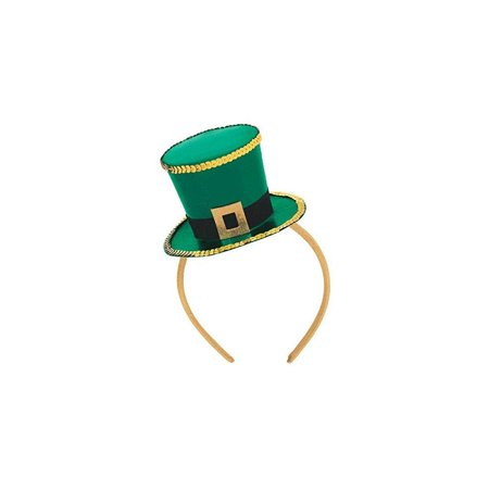 amscan mens st. patrick's day top hat fascinator - one size - 1/package