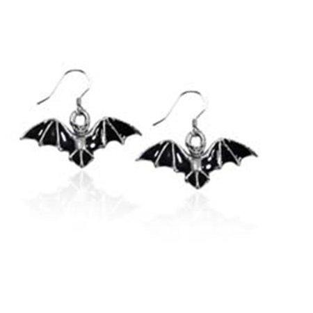 Bat Charm Earrings, Silver - image 1 de 1