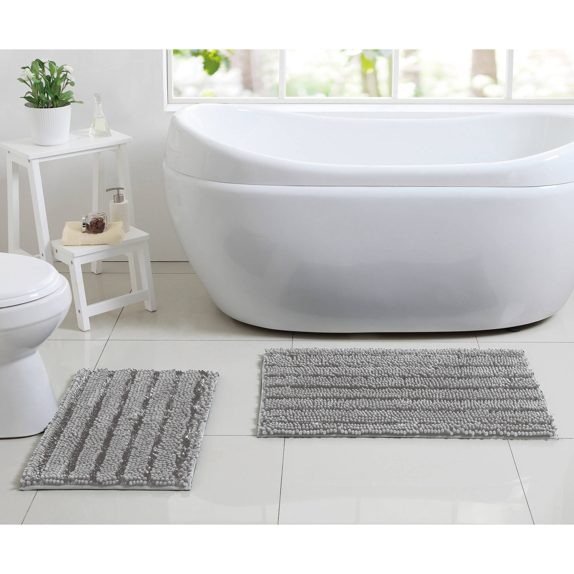 Better Homes and Gardens Chenille Noodle 2-Piece Bath Rug Set ...