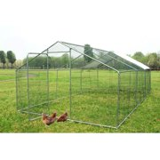 Walsport 20x10ft Outdoor Large Chicken Coop Bunny Rabbit Hutch Hen Cage Pet House Chicken Nesting Box with Waterproof Cover, Placed in the Garden Backyard