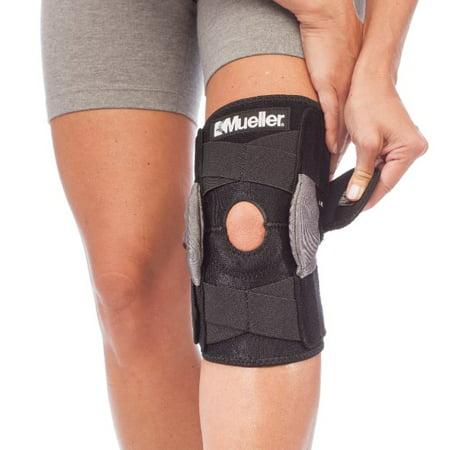 Mueller Adjustable Hinged Knee Brace, Black, One Size Fits Most