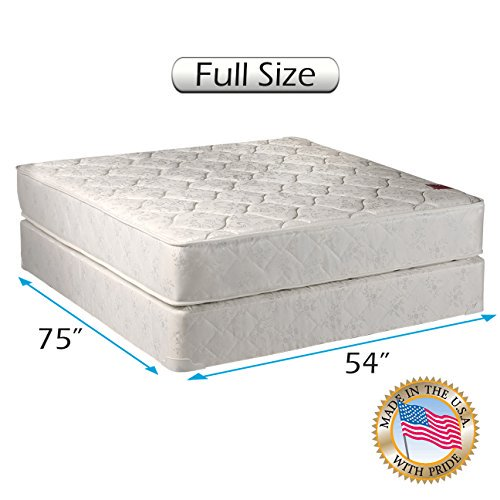 "Legacy Full Size (54""x75""x8"") Mattress and Box Spring Set - Gentle"