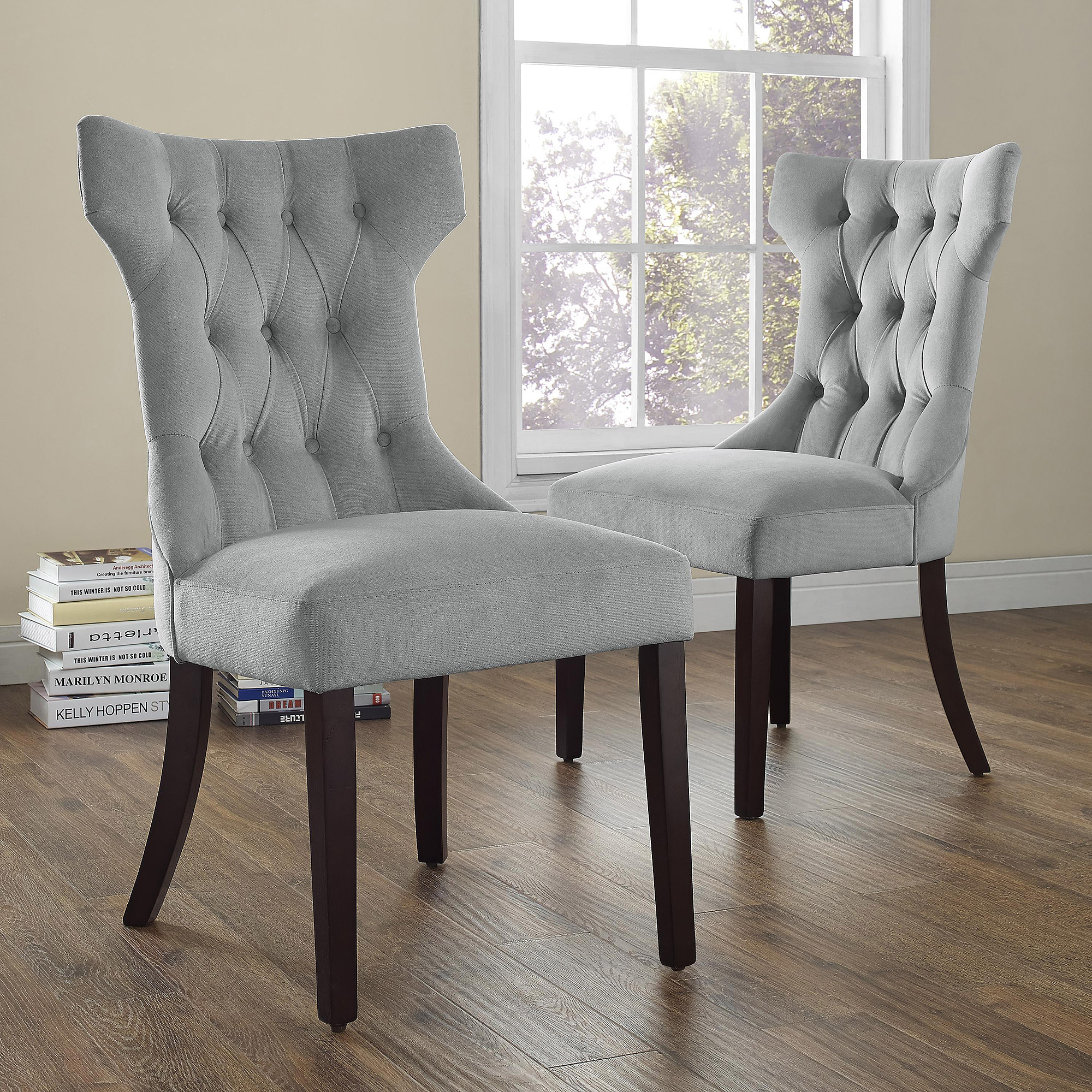 Dorel Living Clairborne Tufted Upholestered Dining Chair, Set Of 2    Walmart.com
