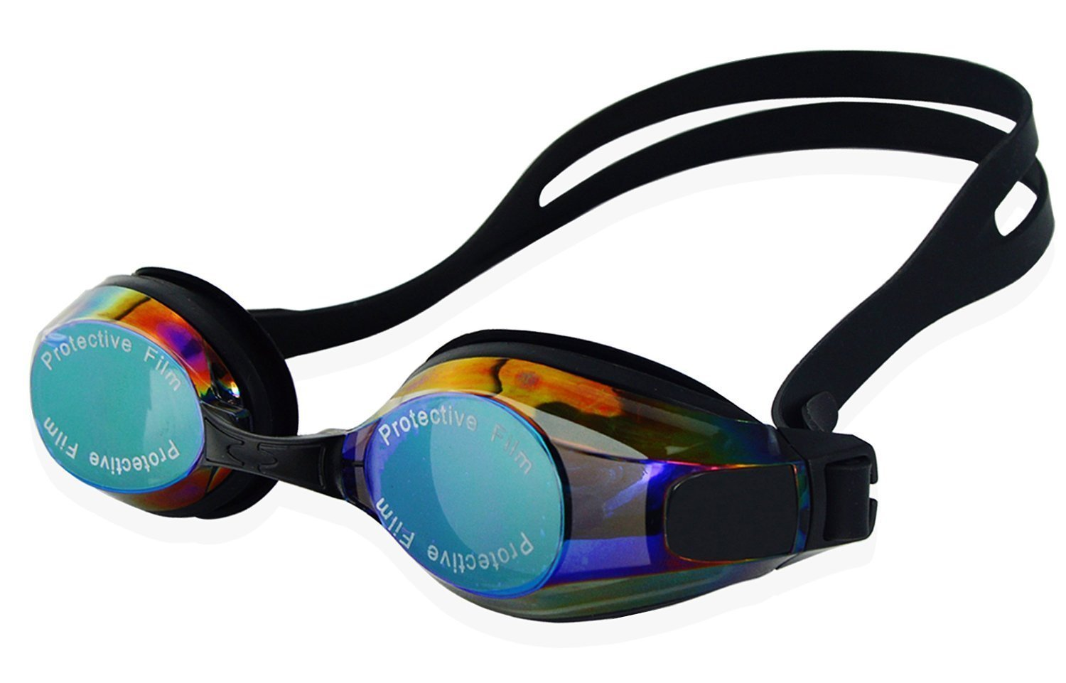 IPOW Swim Goggles Anti-fog Mirrored Lenses UV Protection Professional Swimming Goggle No Leaking Premium Plasting... by IPOW
