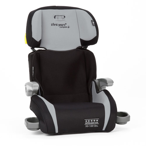 The First Years B505 Booster Seat, Sticks and Stones/Black and Gray