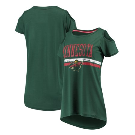 Minnesota Wild G-III 4Her by Carl Banks Women s Clear The Bases Scoop Neck  T-Shirt - Green - Walmart.com cf434353d7