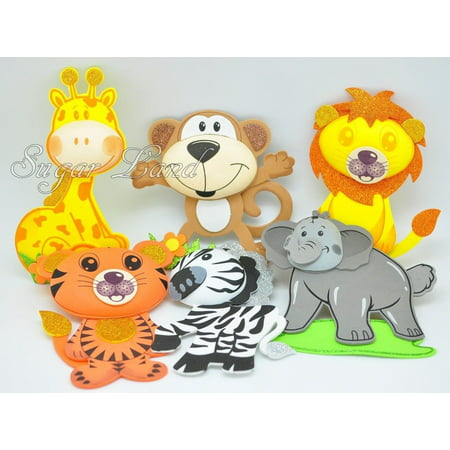10 PCS Baby Shower Safari Jungle Decoration Foam Party Supplies Girl Boy Favors Woodland Theme