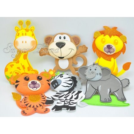 10 PCS Baby Shower Safari Jungle Decoration Foam Party Supplies Girl Boy Favors Woodland Theme](80s Theme Party Supplies)