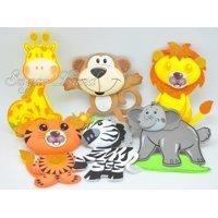 10 PCS Baby Shower Safari Jungle Decoration Foam Party Supplies Girl Boy Favors Woodland Theme