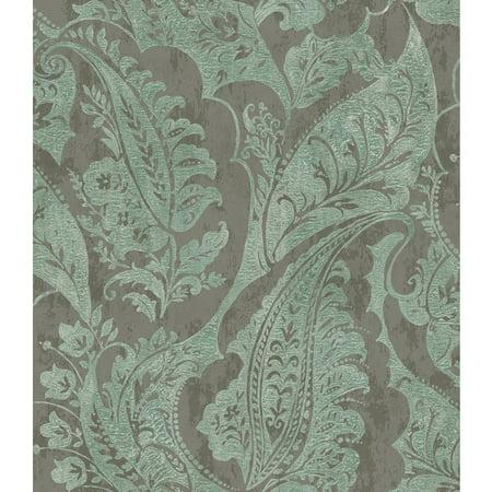 Seabrook Wallpaper in Brown, Green MK20004