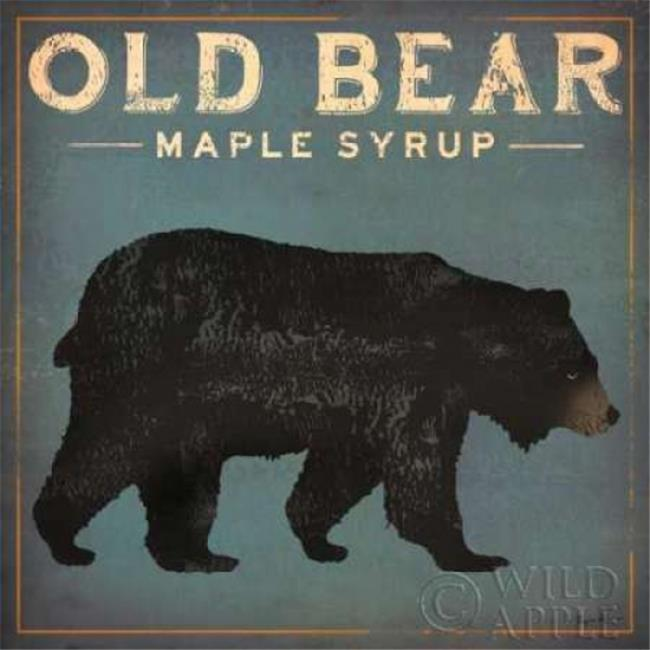 Wild Apple Graphics PDX13358SMALL Old Bear Poster Print by Ryan Fowler, 12 x 12 - Small