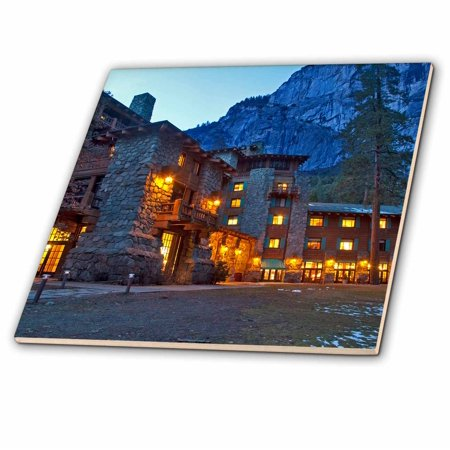 3dRose Ahwahnee Lodge, Yosemite NP, California, USA - US05 CHA0115 - Chuck Haney - Ceramic Tile, 4-inch