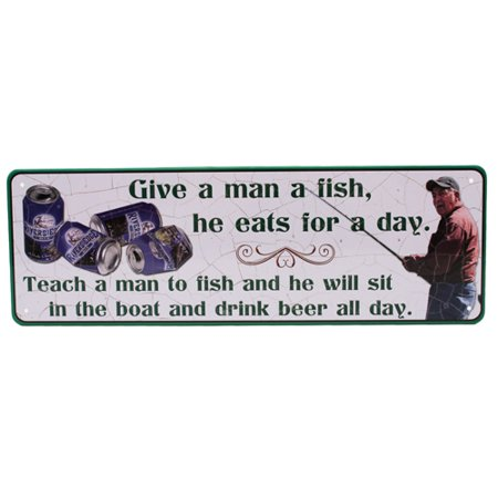 REP Large-Give A Man A Fish Tin Sign
