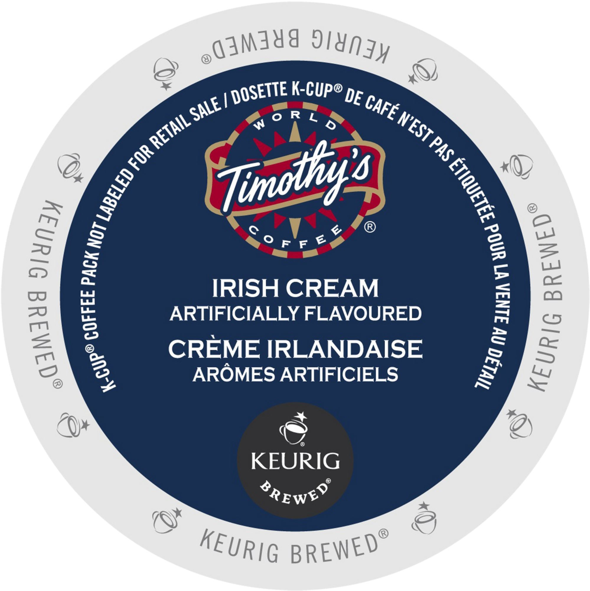 Timothy's Irish Cream Coffee, K-Cup Portion Pack for Keurig Brewers (96 Count) (4x16oz)