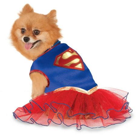 Supergirl Tutu Pet Costume L - Supergirl Dog Costume