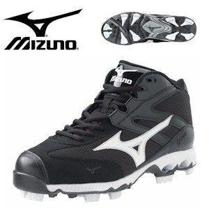 Mizuno 9-Spike Finch G4 Mid - Black/White 16