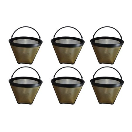 Crucial Think Crucial 4 Cup Gold Tone Coffee Filter (Set of 6)