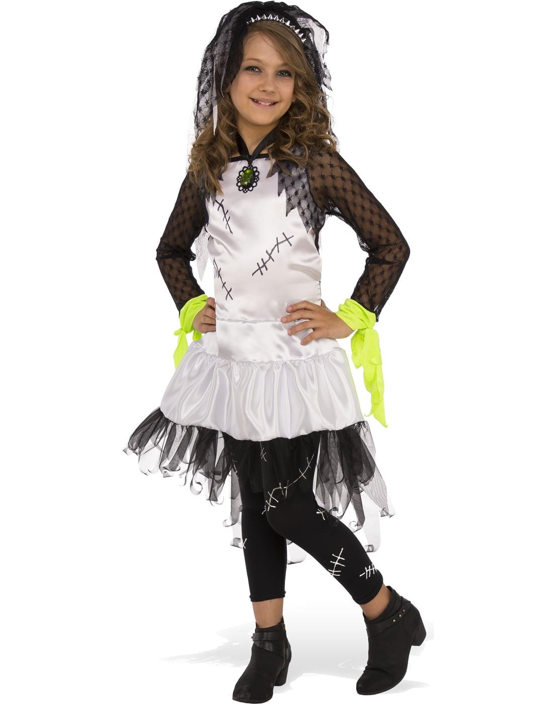 monster bride of frankenstein girl child halloween costume - walmart