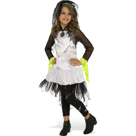 Monster Bride Of Frankenstein Girl Child Halloween (Children's Bride Of Frankenstein Costume)