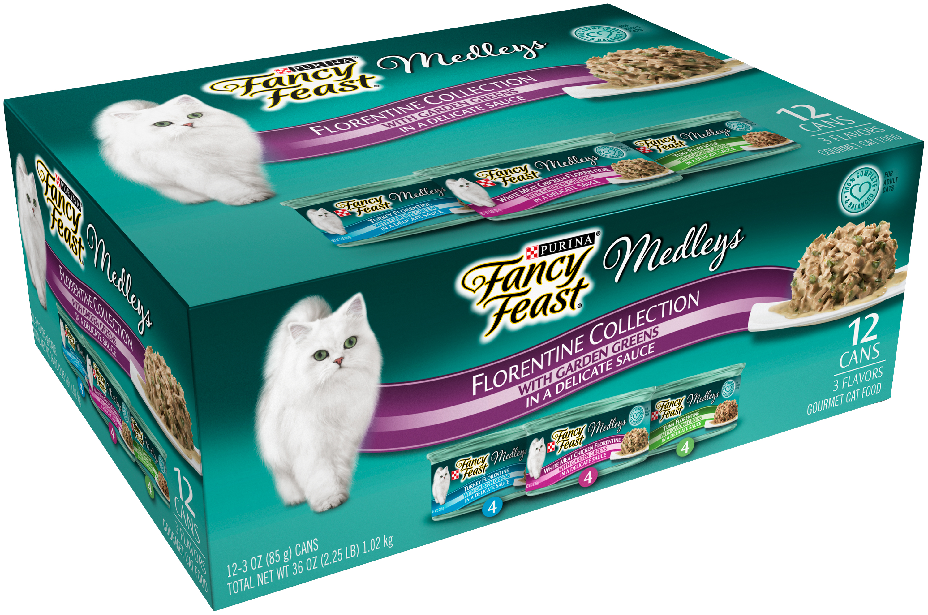 Purina Fancy Feast Medleys Florentine Collection Cat Food Variety Pack 12-3 oz. Cans