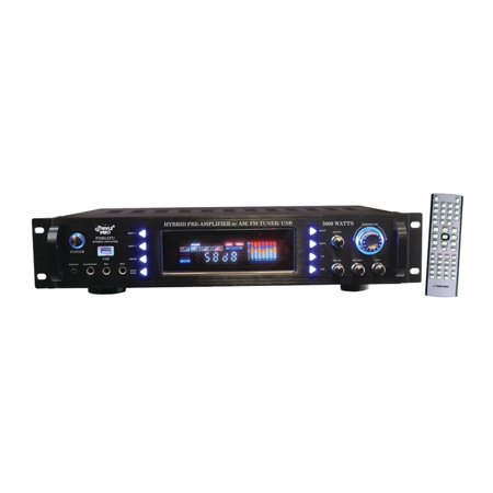 3000-Watt Hybrid Home Stereo Receiver Amplifier by