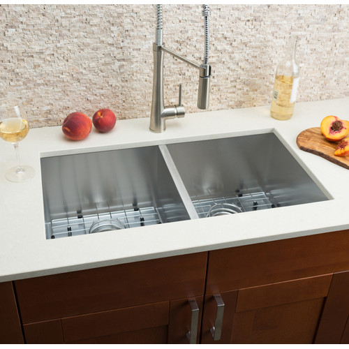 Hahn 32'' L x 16'' W Double Bowl Kitchen Sink