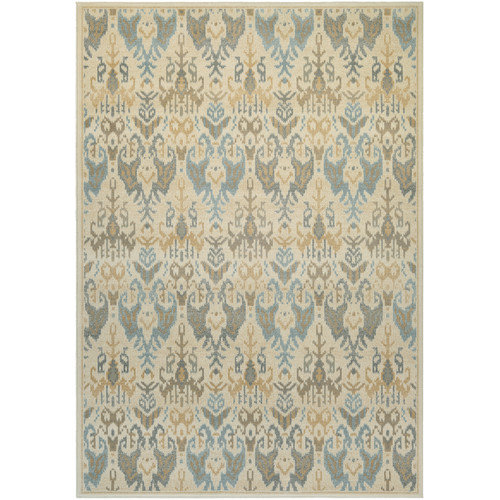 Couristan Everest Zion Desert Sand/Teal Area Rug, Runner 2'7 x 7'10
