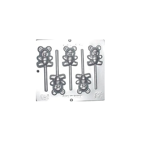 606 Teddy Bear Lollipop ChocolateCandy - Baby Shower Lollipop Molds