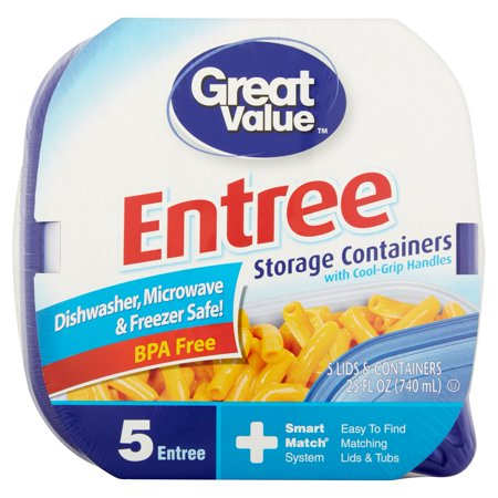 Great Value Smart Match Containers  Medium Square  4 Count