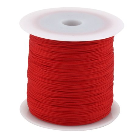 Family Nylon DIY Craft Art Braided Beading Cord String Rope Roll Red 110 Yards