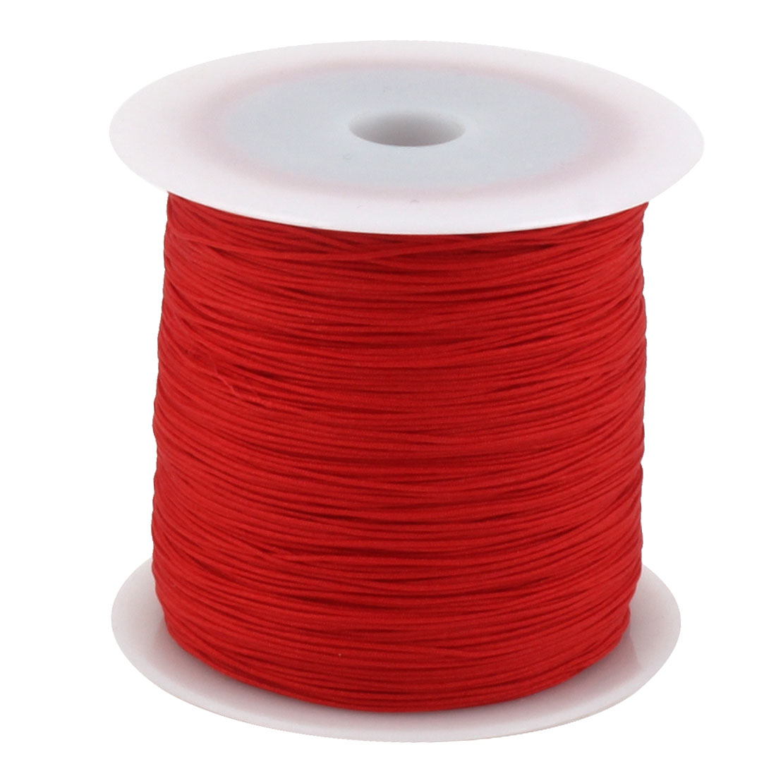 Family Nylon DIY Craft Art Braided Beading Cord String Rope Roll Red 110 Yards